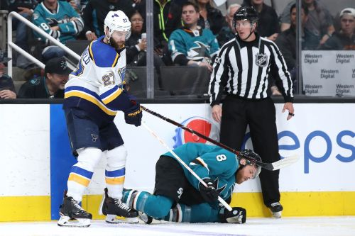 San Jose Sharks captain Joe Pavelski sits out Game 6 against St. Louis Blues