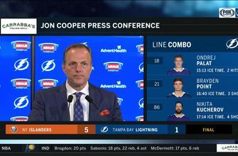 Jon Cooper breaks down Lightning's loss to Islanders