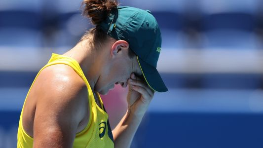 Ash Barty knocked out of Tokyo Olympics in first-round women's tennis upset