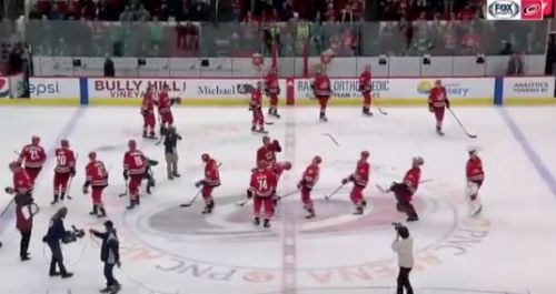 Hurricanes move into playoff spot, keep celebrating like 'bunch of jerks'