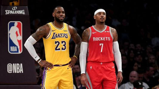 Carmelo Anthony to Lakers 'not a question for myself,' says LeBron James