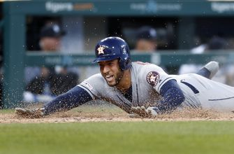 Astros OF Springer leaves game with lower back stiffness