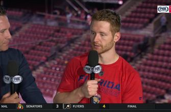 Mike Matheson talks about how playing a more complete 60 minutes helped secure the win