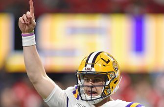 Joe Burrow's pair of third-quarter touchdown passes put LSU up 34-3 in SEC title game