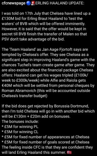 """Chelsea """"confident"""" they WILL sign Erling Haaland this summer"""